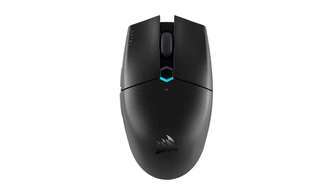 Corsair Katar Pro Wireless mouse on a white background