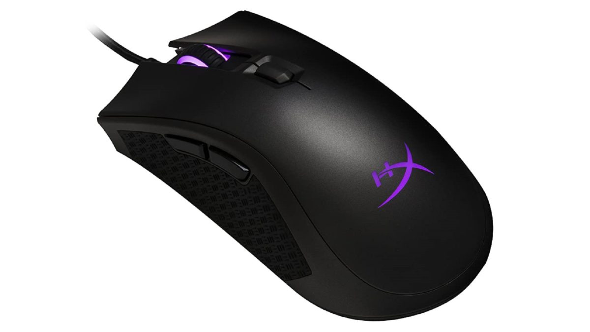 HyperX Pulsefire FPS Pro mouse on a white background