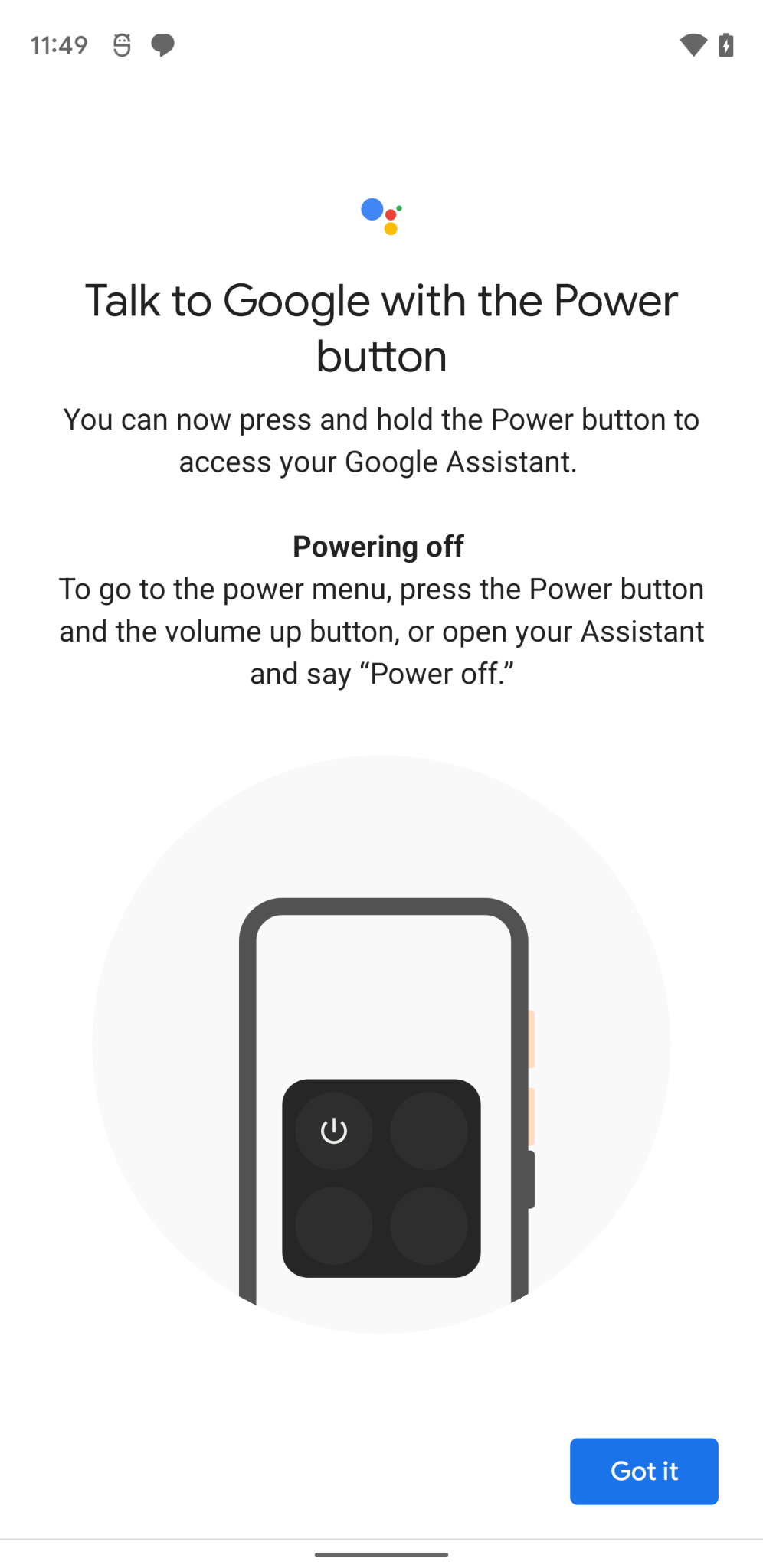 google-assistant-power-off-android-12